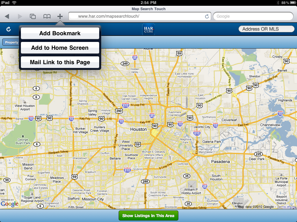 Houston map search and Houston real estate map